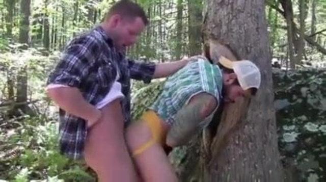 Cruising Rednecks Bareback in the Woods